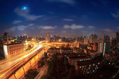 Elevated road at night — Stock Photo