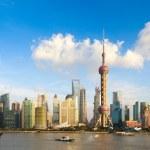 Panoramic view of shanghai skyline — Stock Photo #18585105