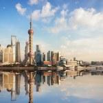 Shanghai skyline at dusk — Stock Photo #18585571