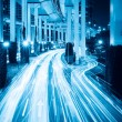 Royalty-Free Stock Photo: Light trails under the viaduct