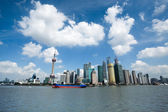 Shanghai under the blue sky — Stock Photo