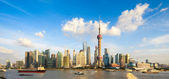 Panoramic view of shanghai skyline — Stock Photo