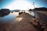 Fishery harbor in the morning — Stockfoto
