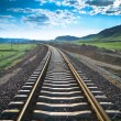 Railway in prairie — Stock Photo #18598315