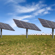 Solar power on the prairie — Stock Photo