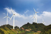 Wind farm in the hill — Stock Photo
