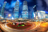 Shanghai lujiazui downtown at night — Stock Photo