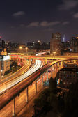 City highway overpass at night — Stock Photo