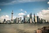 Shanghai bund riverside sahne — Stok fotoğraf