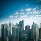 Moderni edifici finanziari in shanghai — Foto Stock