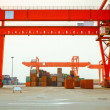 Container yard — Foto Stock