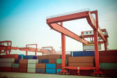 Container intermodal yard — Stock Photo