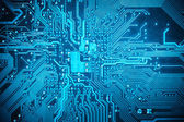 Blue circuit board background — Stock Photo