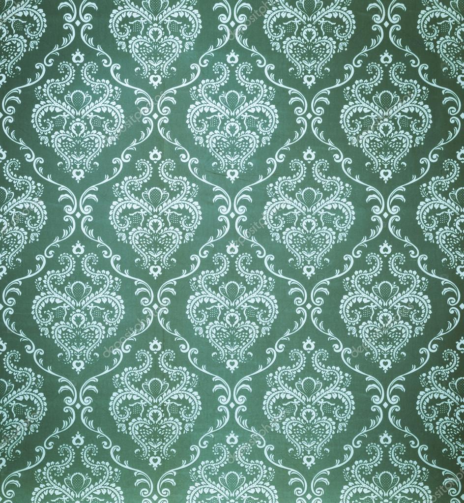 seamless damask green wallpaper stock photo chungking