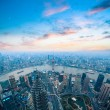 Stock Photo: Bird's eye view of shanghai panorama