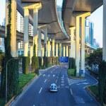 Modern urban highway in morning — Stock Photo #19627157