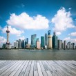 Shanghai skyline at daytime - Stock Photo
