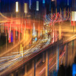 Blur colors on the overpass - Stock Photo