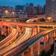 Stock Photo: Elevated overpass at dusk