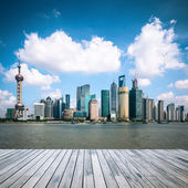 Shanghai skyline at daytime — Stock Photo