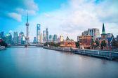 Mooi shanghai in de schemering — Stockfoto