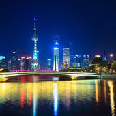 Charming night in shanghai — Stock Photo
