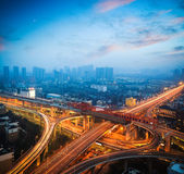 Urban overpass at dusk — Stock Photo