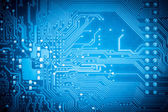 Blue circuit board — Stockfoto