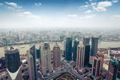 Aerial view of shanghai in daytime — Stock Photo