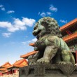 Bronze lion in beijing forbidden city — Stock Photo #22302353