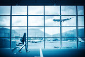 Modern airport scene — Stock Photo