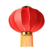 Red lantern isolated — Stock Photo