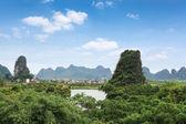 Karst mountain scenery — Stock Photo