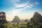 Chinese yangshuo county town scenery — Stock Photo