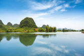 Beautiful pastoral landscape in yangshuo — Stock Photo