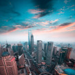 Shanghai financial center in sunset — Stock Photo #22312301