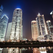 Royalty-Free Stock Photo: Night scenes of shanghai financial center