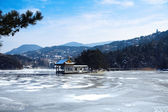 Lushan lake in winter — Stock Photo