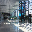 Modern airport interior - Stock Photo