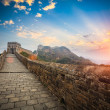 The great wall with sunset glow — Stock Photo #24235885