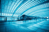 Modern airport express train in beijing — Stock Photo