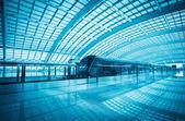 Modern airport express train in beijing — Stock Photo