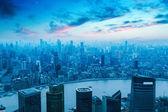 在现代城市的鸟瞰图上海 — 图库照片