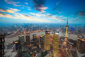 Shanghai in sunset — Stock Photo