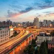 Shanghai elevated road at dusk - Foto Stock