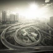 City cloverleaf junction — Stock Photo