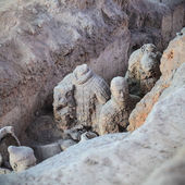 Remnants of the terracotta warriors — Stock Photo