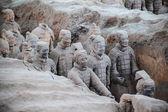 Vivid terracotta warriors — Stock Photo