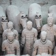 Terracotta warriors and horses — Stock Photo