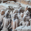 Stock Photo: Terracottwarriors in xian